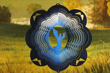 "12"" Angel Wind Spinner - Blue Starlight - Temporarily Out of Stock 12 inch, wind spinners, 12"", made in usa"
