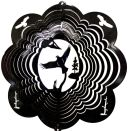 "12"" Eagle 3D Wind Spinner - Black Starlight 12 inch, wind spinners, 12"", made in usa"