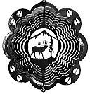 "12"" Elk Wind Spinner - Black Starlight 12 inch, wind spinners, 12"", made in usa"