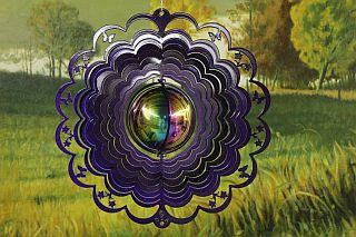 40659-12inchGazingBallwithCut-OutsButterfly-PurpleStarlight
