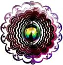 "12"" Gazing Ball Butterfly Cut Out Wind Spinner - Raspberry/Purple Starlight gazing ball, wind spinners, made in usa"