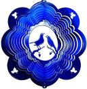 "12"" Lovebirds Wind Spinner - Blue Starlight - Temporarily Out Of Stock 12 inch, wind spinners, 12"", made in usa"