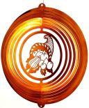 "12"" Seasonal Horn 'O Plenty Wind Spinner 12 inch, wind spinners, 12"", made in usa, seasonal"