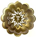 "12"" Sun Wind Spinner - Brass Starlight - Temporarily Out Of Stock 12 inch, wind spinners, 12"", made in usa"