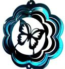 "4"" Mini Butterfly Wind Spinner - Copper Starlight Scalloped - Temporarily Out Of Stock 4 inch, 4"", wind spinners, made in usa"