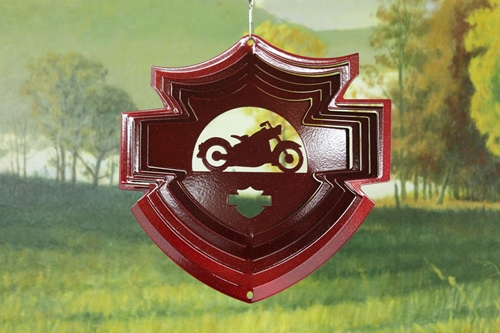 54561-8inchMotorcycleShield-RedStarlight