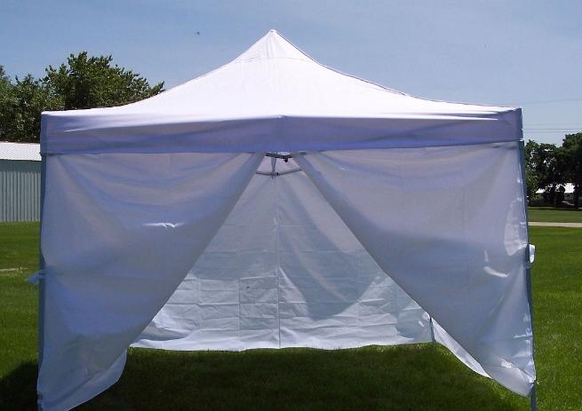10 x 10 White Canopy - With Sides ... & 10 x 10 White Canopy - With Sides